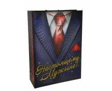 """Пакет подарочный для носков XXL """"Настоящему мужчине"""" с тиснением"""